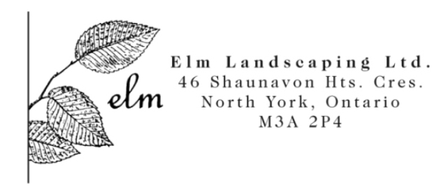 Elm logo & address